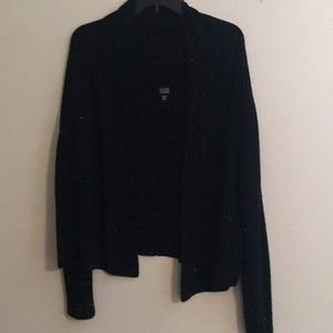 Eileen Fischer black beaded cardigan